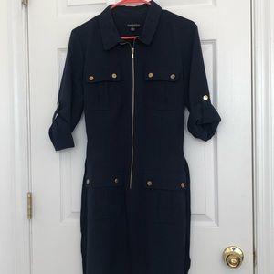 Navy Blue Four Pocket Dress